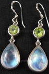 moonstone and peridot earrings