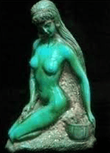 turquoise statue